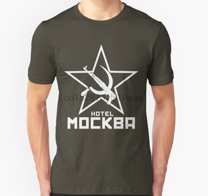 Camisa masculina preto lagoa hotel moscow branco unissex t camisa impressa t-shirts topo