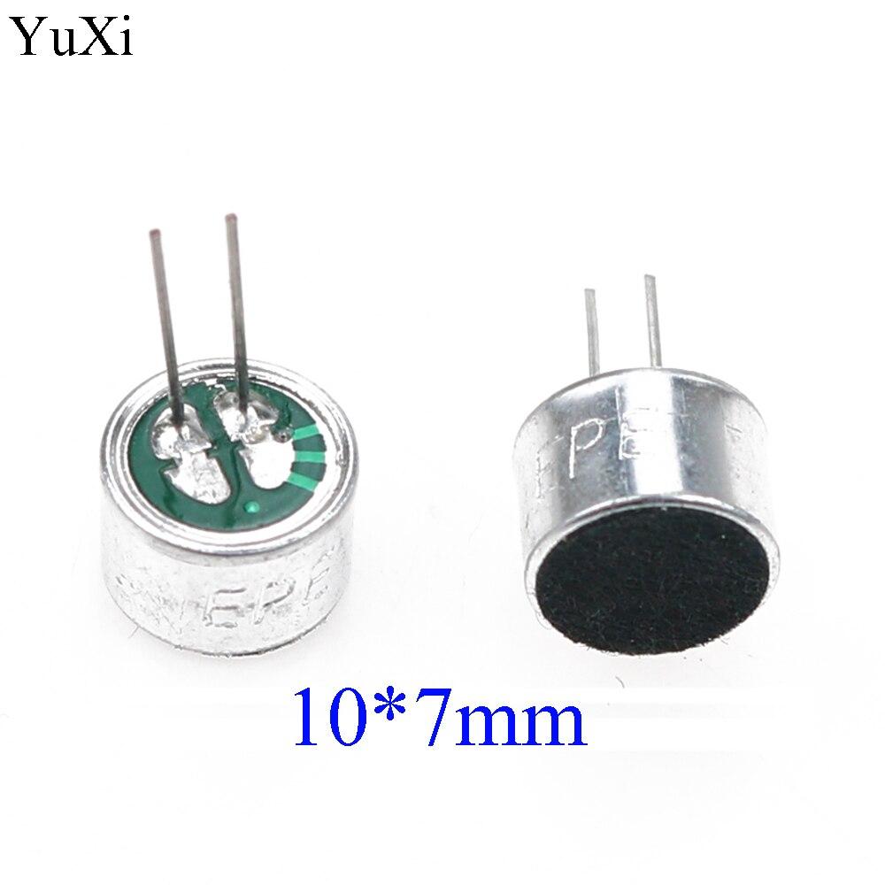 YuXi 10x7mm/10*7 micrófono Electret con 2 pin pick-up componente electrónico
