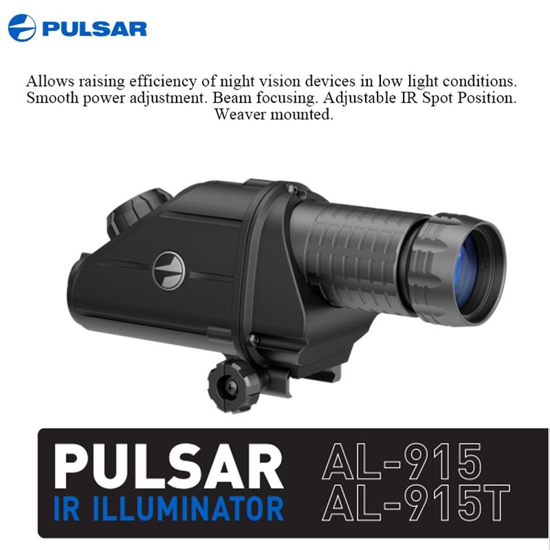 Iluminadores infrarrojos externos Pulsar montura en Visor de visión nocturna 805/850/940/AL915/915T iluminación IR para caza
