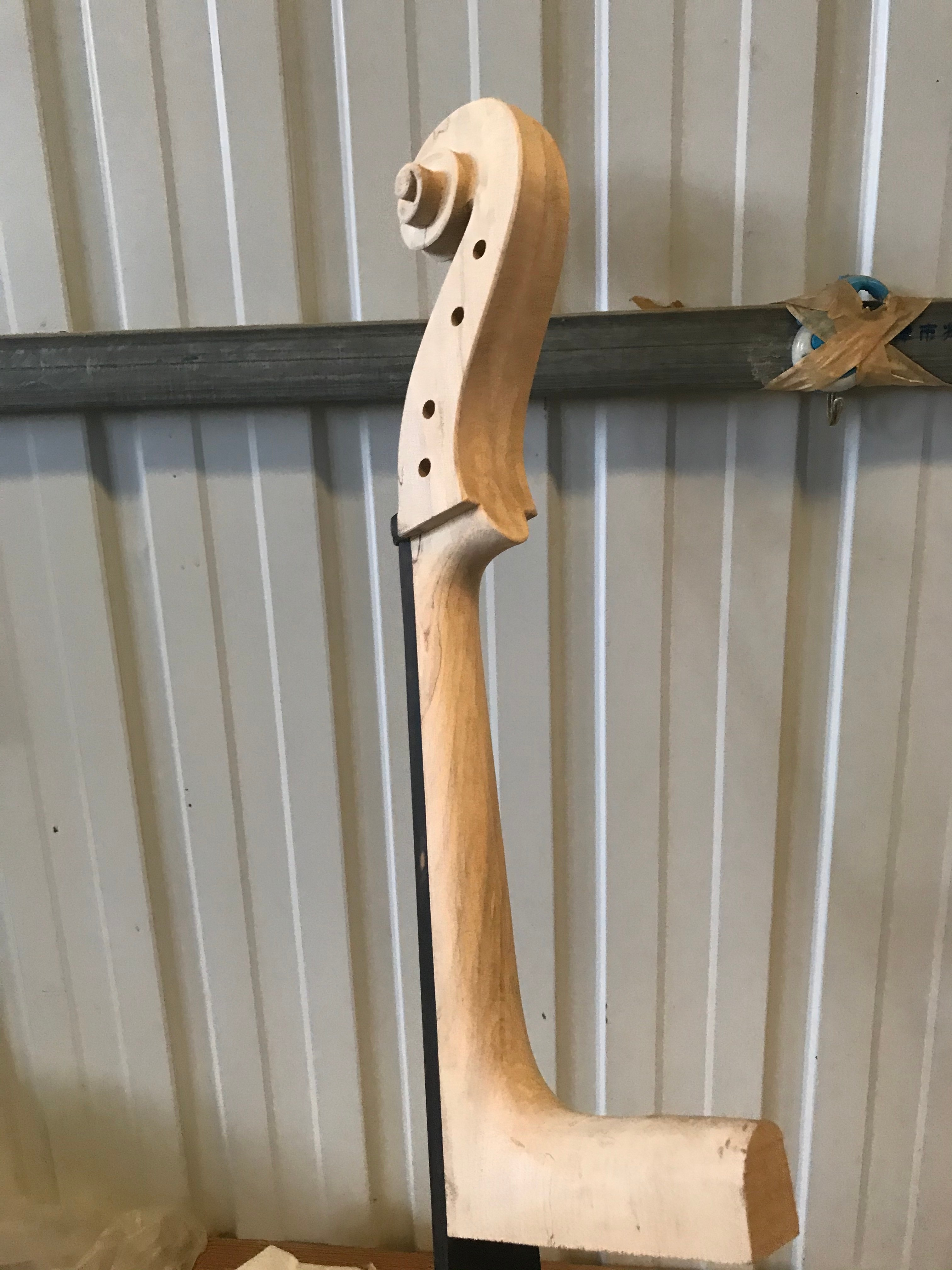 High Quality Handmade 4/4 Cello Neck With Ebony Fingerboard Splated Maple Head of Cello Part Violoncello Accessories enlarge