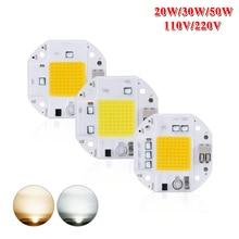 LED Solderless Chip Bulb 20W 30W 50W COB for Spotlight Floodlights Garden Plaza DC 110V 220V Integrated LED