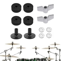 12pcs jazz drum cymbal felt pads parts replacement kit with cymbal sleeves wing nuts washers cymbal wool felt pads