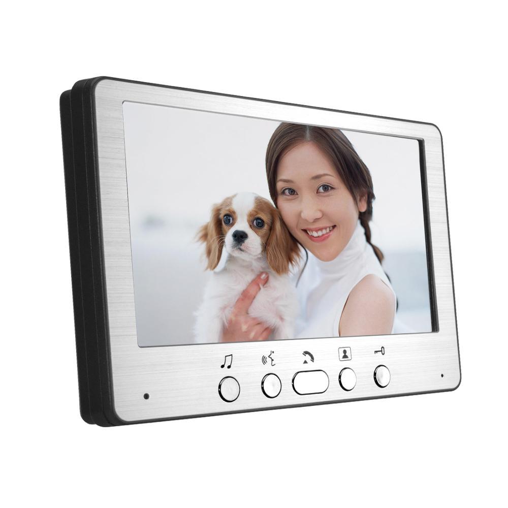 """Security Freeship 7"""" Hands-free Videophone With Door Camera Home Office Door Intercom Smart Video Door bell phone enlarge"""