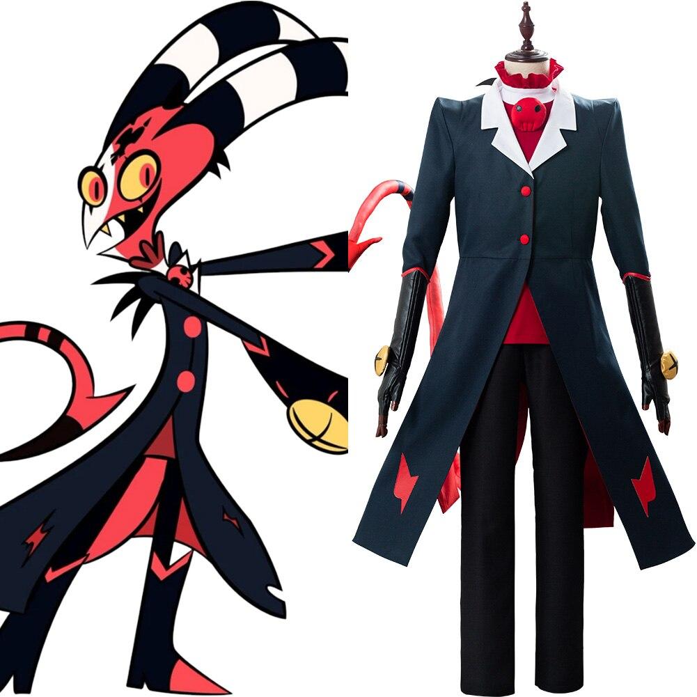 Hazbin Cosplay Hotel traje Blitzo gran jefe traje completo Carnaval de Halloween uniforme