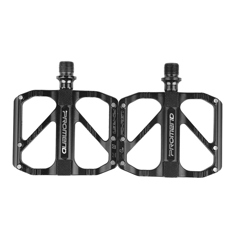 One Pair Bicycle Flat Pedals Replacement Aluminum Steel Black Fast Disassembly Anti-Slip MTB Road Bike Parts