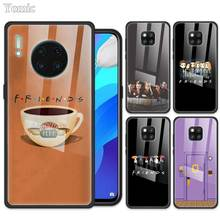 DDD Fall für Huawei Ehre 9X 8X Ansicht 30 Pro Plus 20 10 Lite 30S Y6 Y7 Y9 2019 spielen 9A Gehärtetem Glas Abdeckung Case for Huawei Mate 30 Pro 5G 10 Lite 20 X Tempered Glass Cover For Huawei Nova 6 SE 7i Phone Shell