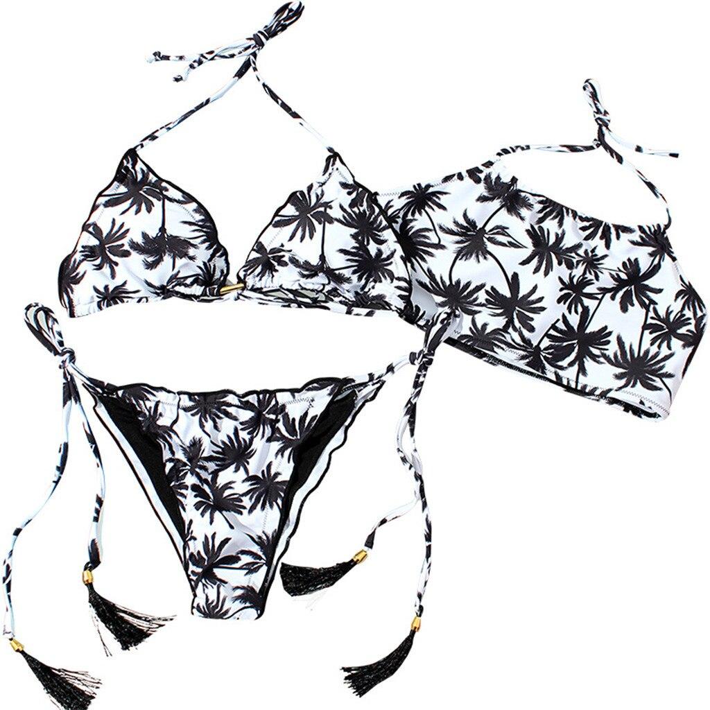 Bikini de dos piezas sexi de verano para mujer, Bikini con abertura en la parte superior, Bikini con flecos estilo chino Z0106