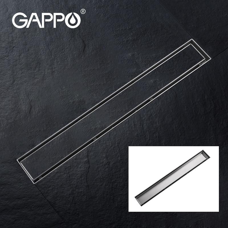 GAPPO دش الطابق استنزاف 304 الفولاذ المقاوم للصدأ دش الطابق استنزاف طويل الخطي الصرف الصحي ل فندق الحمام المطبخ frool
