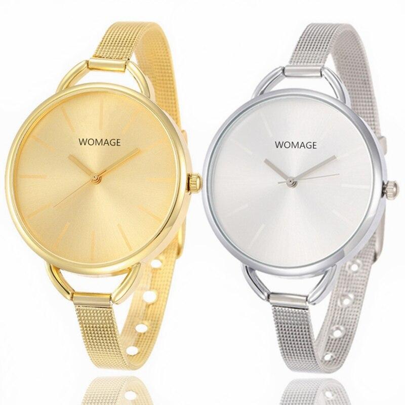 Watches Wrist Ladies Women s Clock Gold Stainless Steel Luxury Quartz