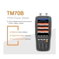handheld xdsl tester tm70b pon power meter 131014901550nm wavelengths for epon gpon xpon olt onu kit ftth fiber optic tool kit