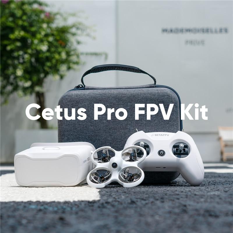 BETAFPV Cetus FPV PRO Kit Indoor Racing Drone RTF Frsky D8 LiteRadio 2 SE Radio Transmitter 5.8G 14DBI VR02 FPV Goggles VTX 25mW
