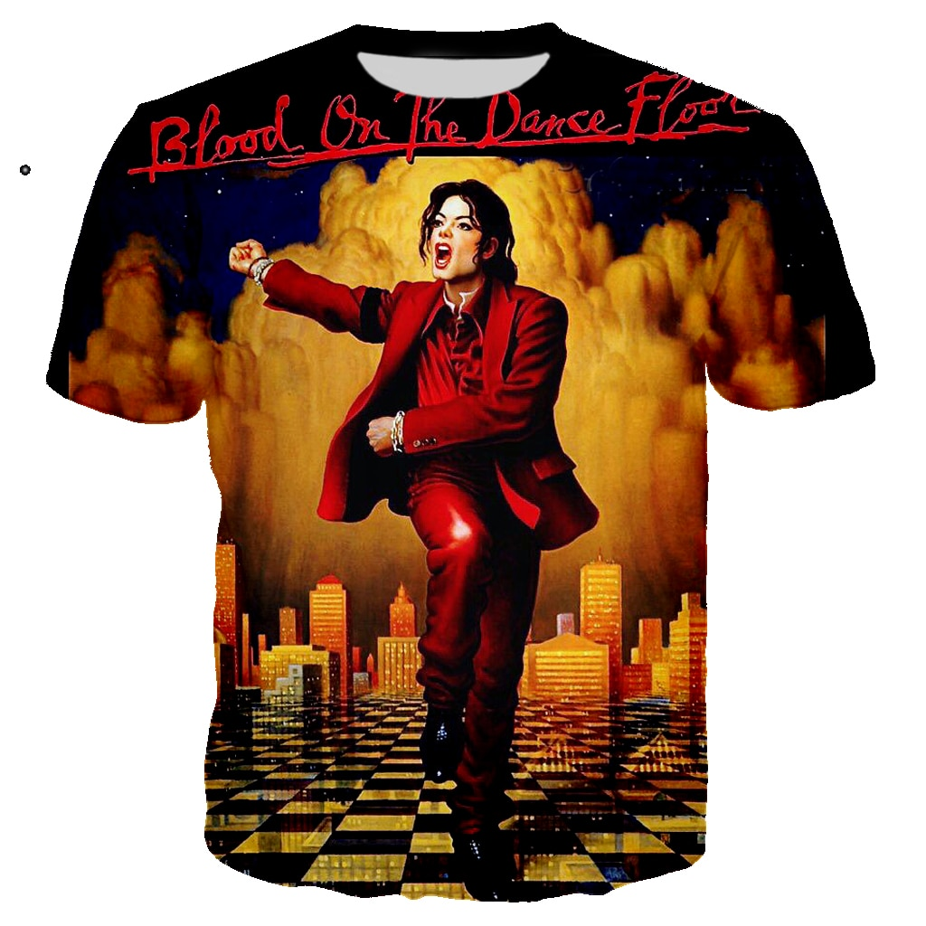 3D Print Singer Michael Jackson Men's T Shirt Rock Casual Tshirt Streetwear O-neck Tee Unisex Hip Hop Tops Clothes Camiseta 5XL