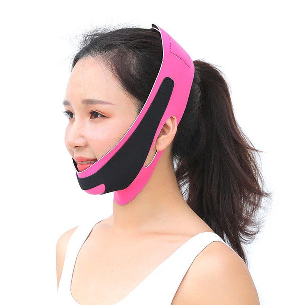 Двойная повязка для лица и подбородка, похудение, подтяжка, ремень, V-образный пояс, линия лица, Женский инструмент для похудения и красоты ли...