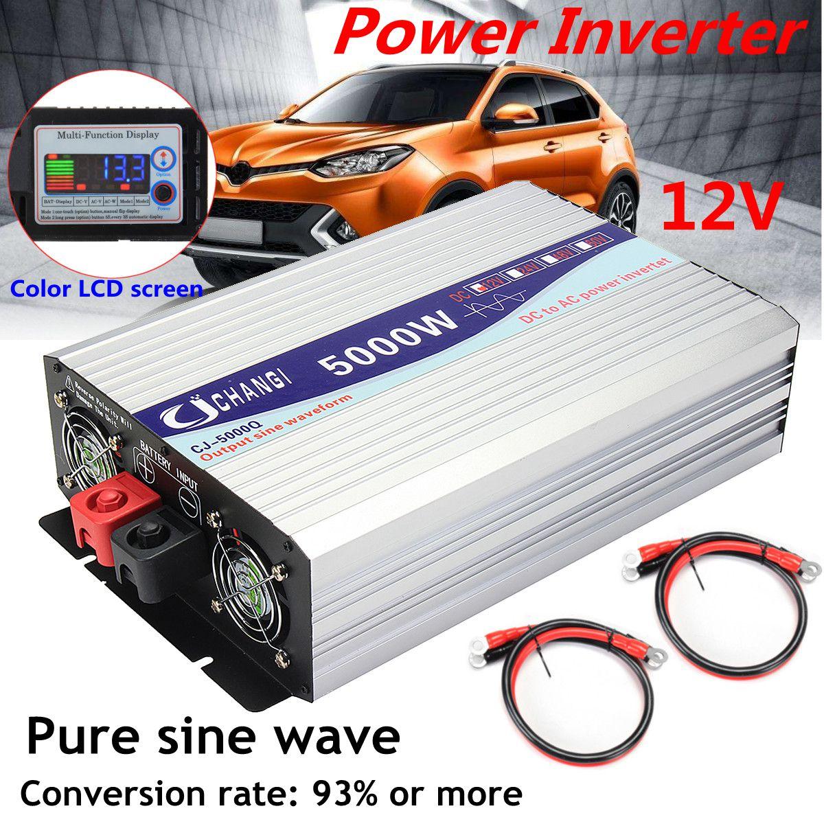 Onduleur de puissance à onde sinusoïdale Pure   Écran Intelligent de 12V/24V à 220V 3000W/4000W/5000W/6000W, convertisseur