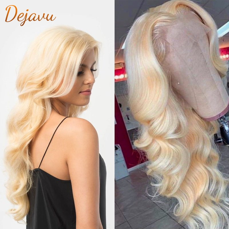 613 Honey Blonde Lace Front Wig Body Wave Human Hair Wigs 13X4 Lace Frontal Wig Pre Plucked with Baby Hair Remy Wig