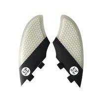 up surf white color surf fins double tabs keel fin surfboard finsin surfing twin fin set 2pcs per set