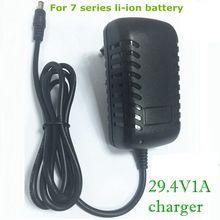 29.4 v 1a para a bateria de lítio 18650 que chargering e o carro elétrico que chargering