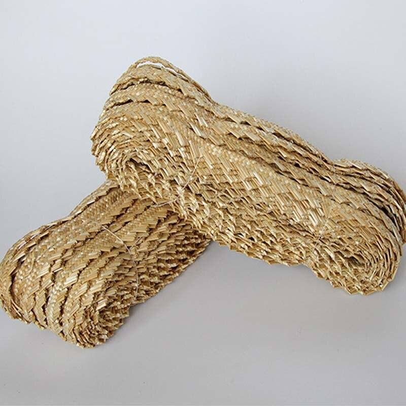 45 متر الطبيعية القمح القش النسيج المواد حبل الروطان المنزل الحرف اليدوية حك إصلاح كرسي سلة الجدول الأثاث ديكور