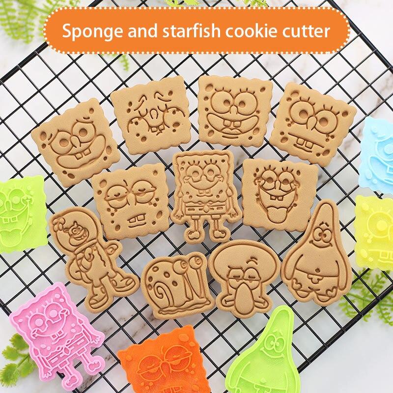 3d резак для печенья, пластиковая губка и морская звезда, креативная мультяшная форма для печенья, домашняя выпечка, «сделай сам», инструмент...