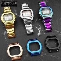 DW5600 Strap Watch Band Bezel 5600 Metal GWM5610 GW5000 Stainless Steel Watchband Case Frame Bracelet Repair Tools Wholesale 4rd