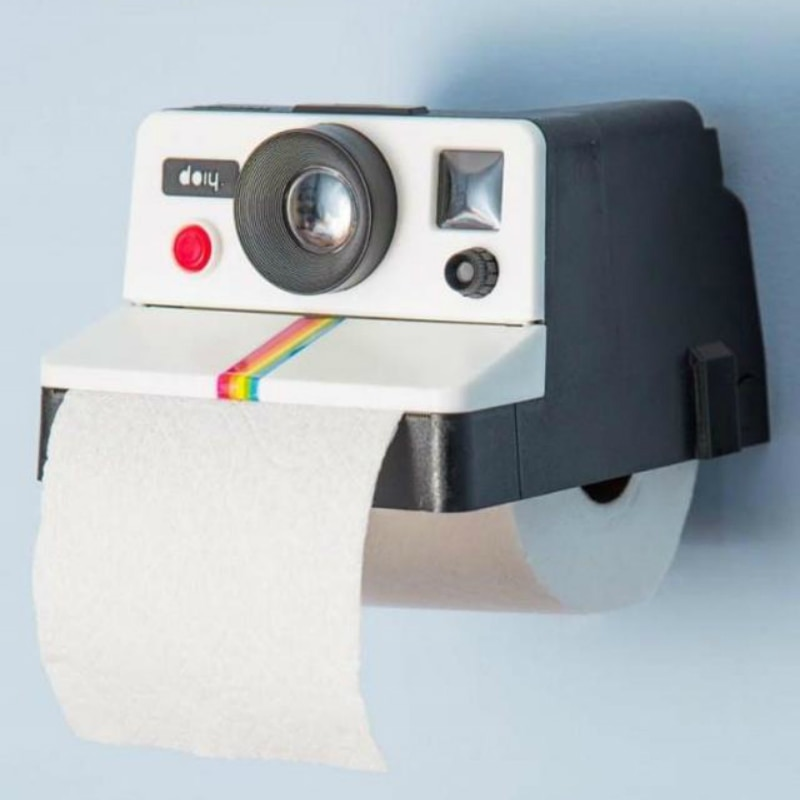 1PC Fashion Creative Camera Shape Tissue Boxes Toilet Roll Paper Holder Box Bathroom Decor Cute Vintage Camera Roll Paper Box