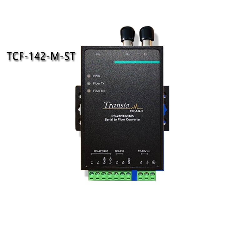 TCF-142-M-ST RS232 422, 485 puerto serie al conversor de fibra óptica multimodo