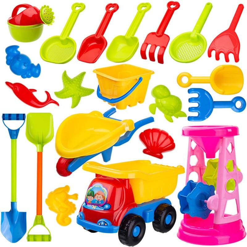 Детский пляжный набор игрушек для малышей, летний песочный инструмент с лопатой, водная игра, набор игрушек для игр на открытом воздухе, пес...