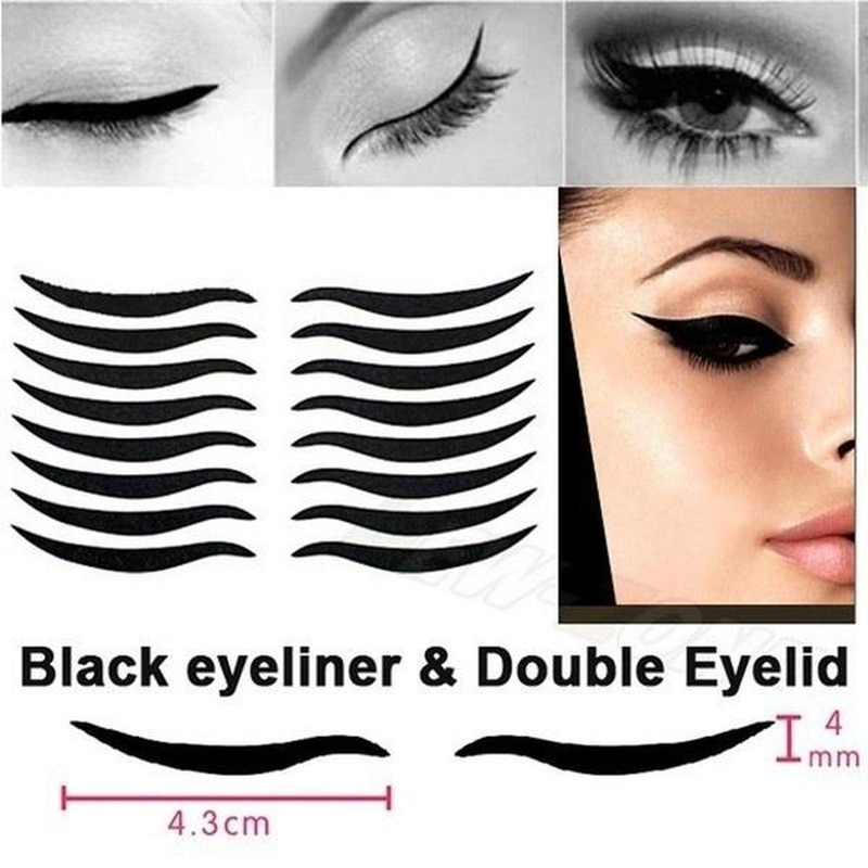 5Pcs Eyelid Tool Sexy Cat Style Eyes Sticker Black Eyeliner Tape Beauty Eye Cosmetic Makeup Tools Accessories