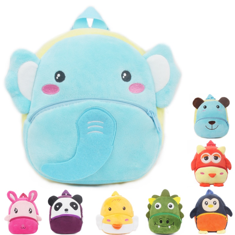 ¡Novedad! Bonita mochila de felpa para bebés, mochilas escolares de animales de dibujos animados, Bolsa Escolar Kawaii para niños, mochila escolar para niños y niñas, regalo para niños