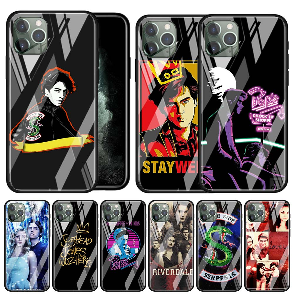 Americano TV Riverdale de templado de vidrio de TPU caso para Apple iPhone 11 Pro MAX X XR XS MAX 6S 6 7 8 Plus SE 2020 cubierta del teléfono