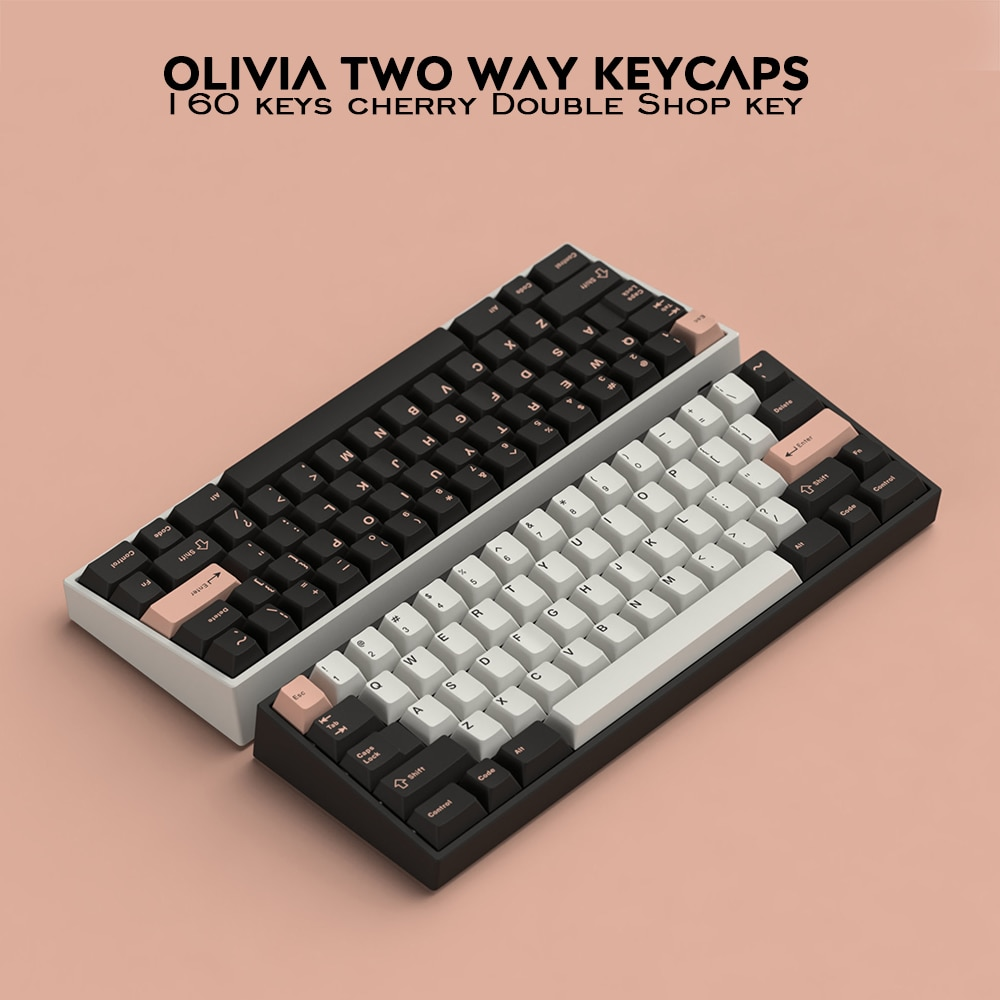 g mky red samurai 160 keys cherry profile keycap double shot thick pbt keycaps for mx switch mechanical keyboard 160 Keys DOUBLE SHOT Cherry Profile Olivia PBT Keycap Thick For Filco CHERRY Ducky iKBC Mechanical Gaming Keyboard