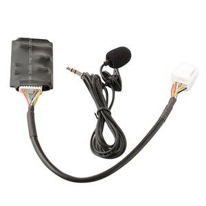 Bluetooth-адаптер AUX для Toyota RAV4, жгут с микрофоном и модулем подключения Bluetooth
