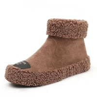 women fur warm flat snow boots winter shoes ladies warm wool boot ankle boot comfortable casual shoes women boots botas de mujer