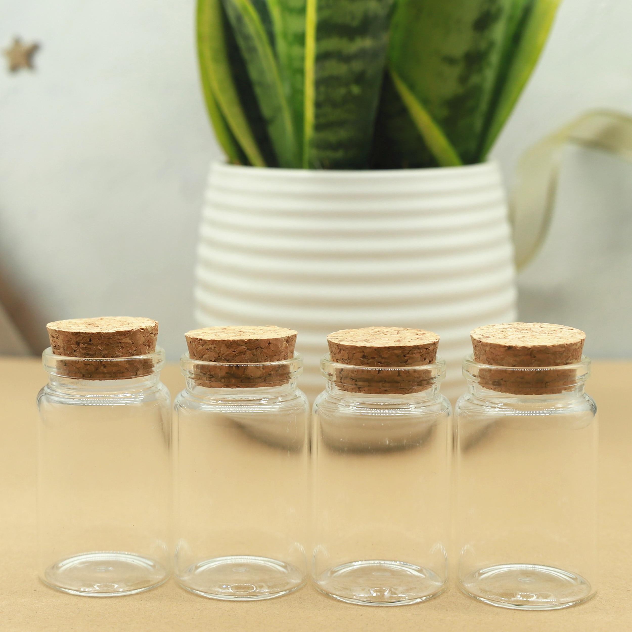 24 قطعة/الوحدة قطع الزجاج زجاجة 37*60 مللي متر 40 مللي سدادة صغيرة اختبار أنبوب تخزين التوابل زجاجة الحاويات الزجاج الجرار قوارير زجاجة الفلين