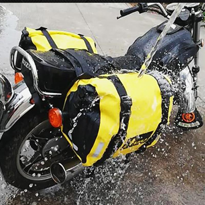 Bolsas de sillín de motocicleta impermeables, máscara completa de gran capacidad, bolsa de equipaje para motocicleta, bolsa de viaje de almacenamiento de 60L