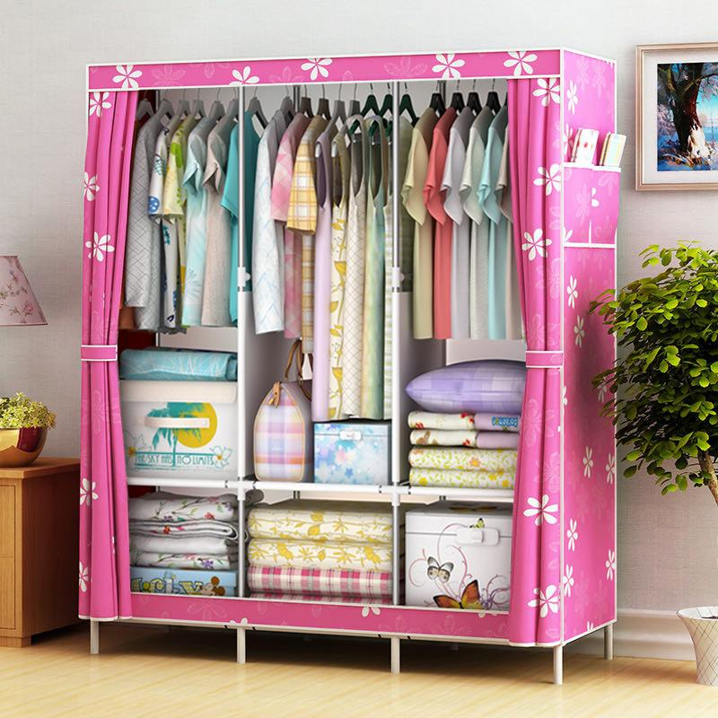 actionclub multifunction non woven cloth closet dust proof moisture proof high quality fabric wardrobe clothes storage cabinet Bedroom Multipurpose Non-Woven Cloth Wardrobe Folding Portable Clothing Storage Cabinet Dustproof Cloth Closet Home Furniture