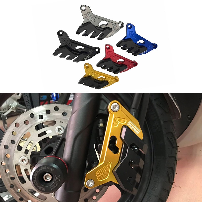 keoghs rpm motorcycle hydraulic brake caliper disc system set 200mm and 220mm floating disc for honda dio 18 27 28 zx34 35 36 SEMSPEED Motorcycle Front Brake Disc Caliper Brake Caliper Guard Protector Cover For Honda PCX 125 150 2018 2019 2020