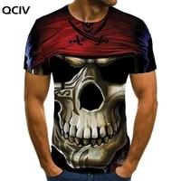 qciv brand pirate t shirt men skull tshirt printed hip hop anime clothes gothic tshirts casual short sleeve punk rock cool male