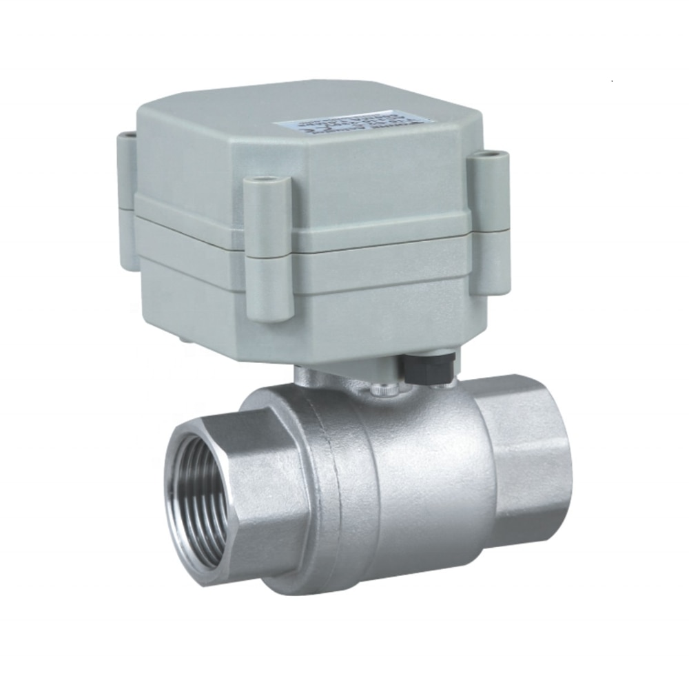 1 inch stainless steel electric shutoff control water  ball valve enlarge