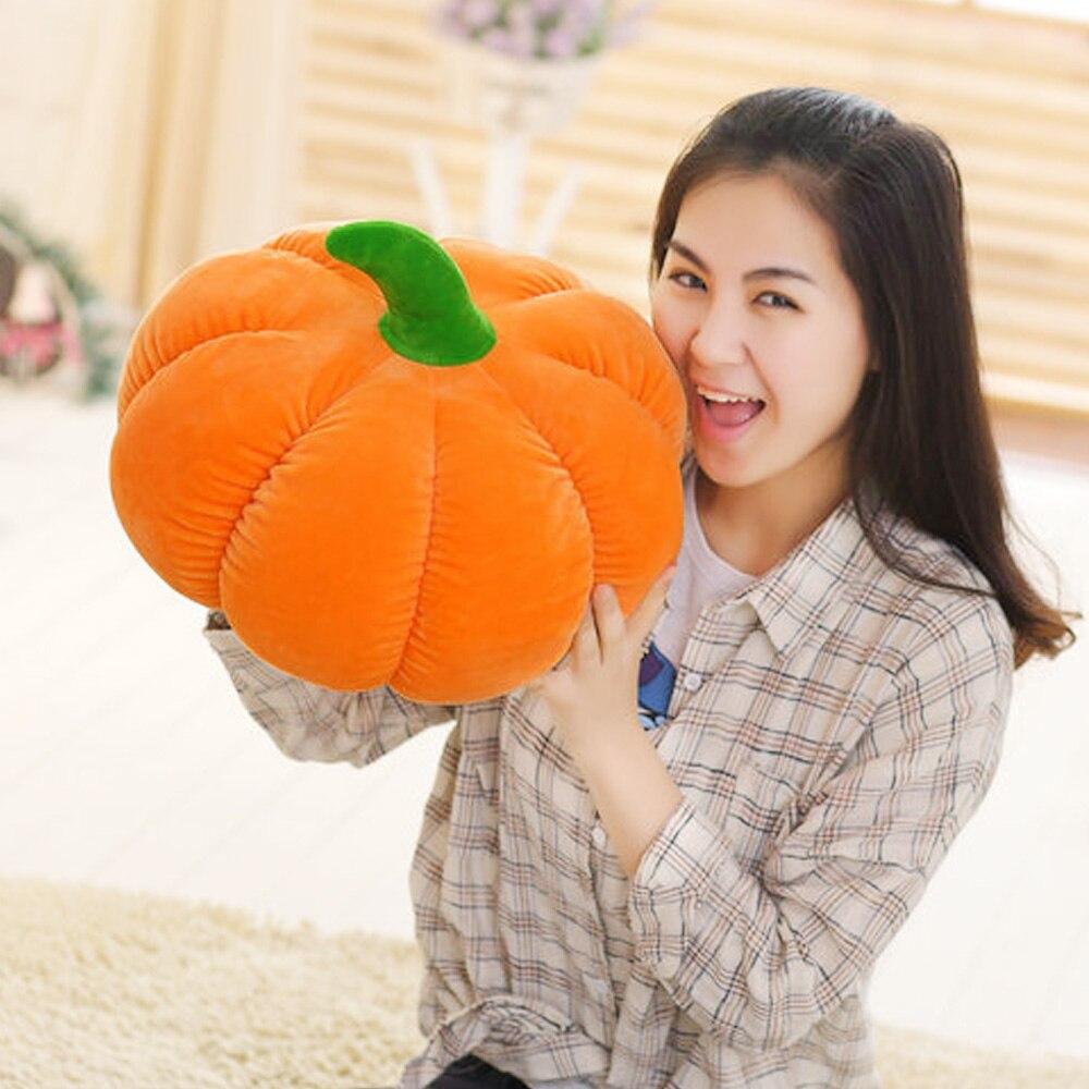 Besegad, almohada de peluche de calabaza divertida y divertida de 45cm, cojín de juguete, almohada decorativa para Halloween, juguetes vegetales, juguetes creativos para niños
