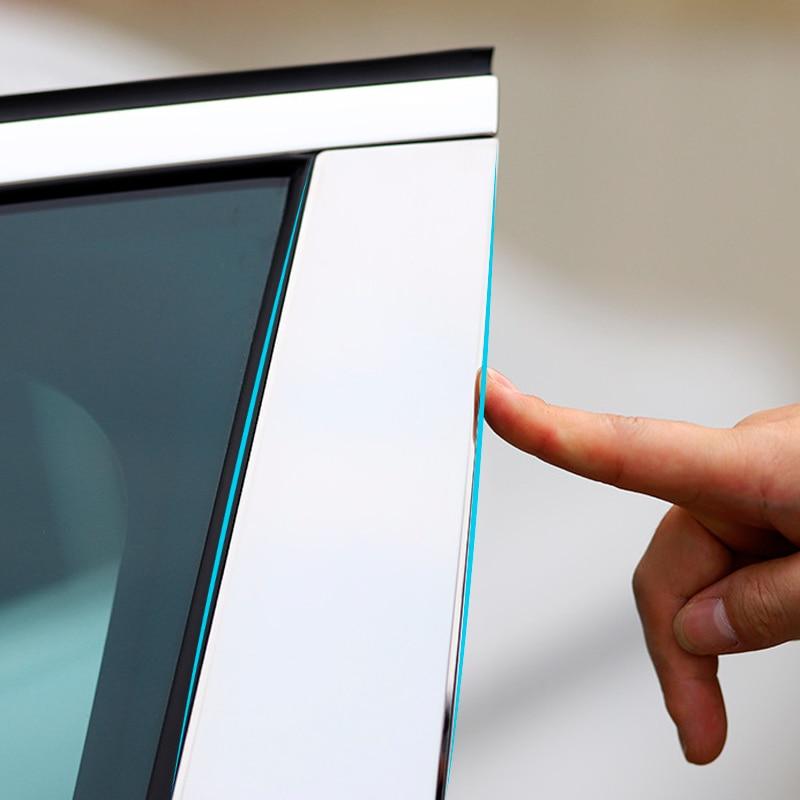 الكمبيوتر مرآة فضية B-عمود ملصقات ل RAV4 كورولا كورولا/درابزين 6/8 أعمدة كامري عمود ملصق مزخرفة