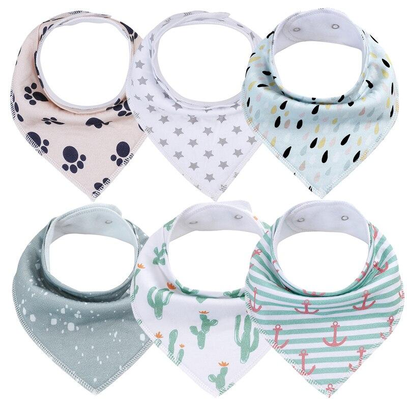 bibs for babies Infant Boy Girl Toddler Stuff Super Soft Adjustable Baby Bibs 100% Cotton Newborn Bandana