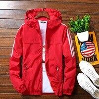 Куртка мужская с капюшоном, толстовка на молнии, ветровка, повседневная куртка, уличная одежда, тонкий Бомбер, приталенный силуэт, пальто, ос...