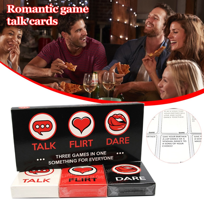 Talk Flirt or Dare Romantic Game Talk Card for Couples Deepen Relationship with Your Partner Great Gifts