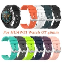 new colors strap for huawei watch gt 46mm sport strap watch silicone waterproof sweat proof wrist strap for interface width 22mm