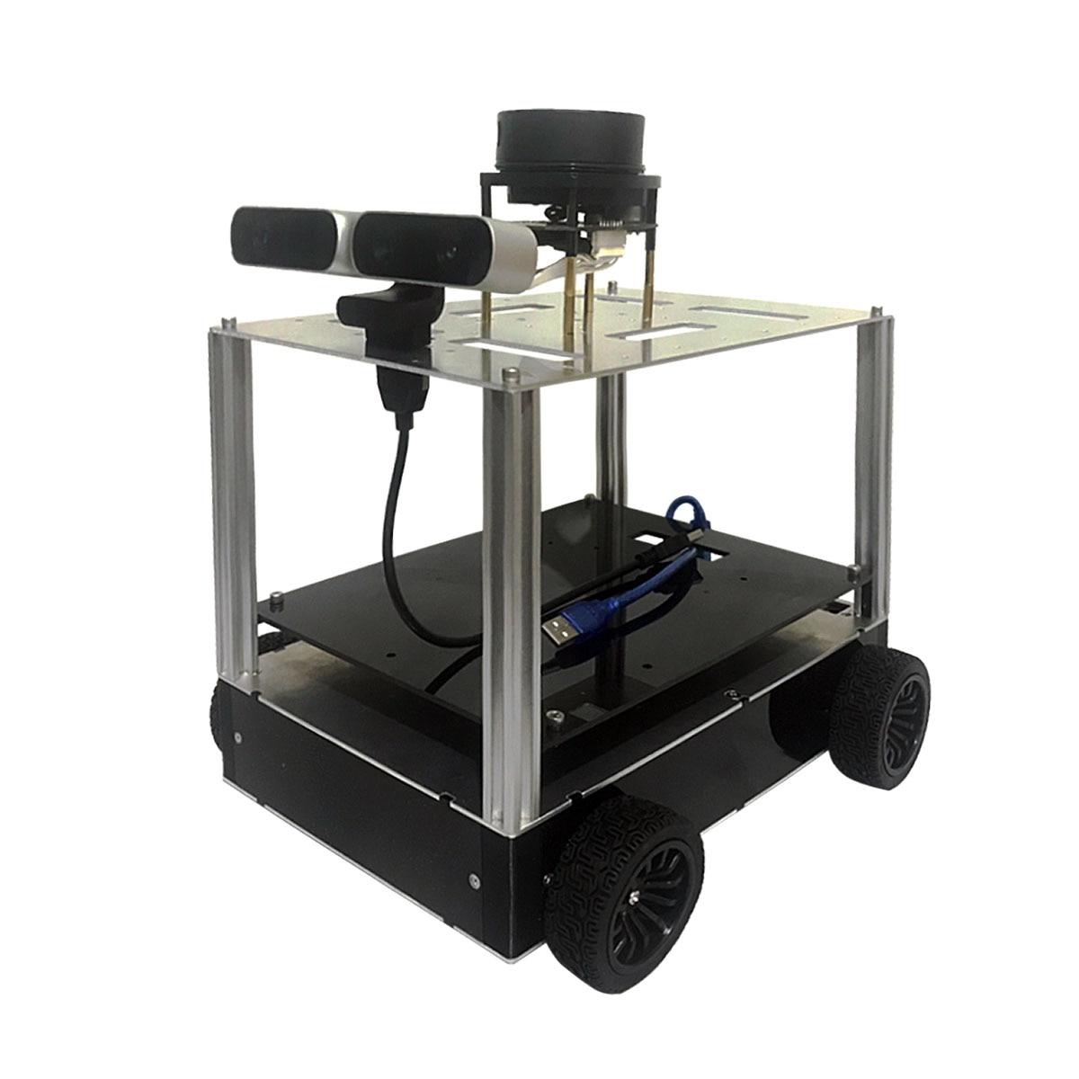 ROS Robot-رباعي الدفع للسيارة ، هيكل سيارة مغلق بالكامل ، رادار ، كاميرا عمق ، رسم خرائط ، مخصص