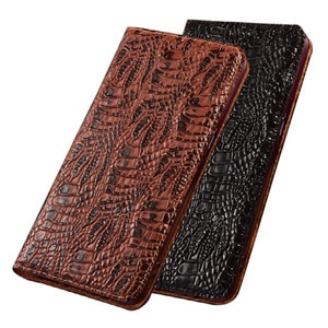 Genuine Leather Magnetic Holster Cover Card Pocket Case For Samsung Galaxy A70E/Galaxy A20E/Galaxy A10E Phone Cases Kickstand