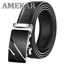 Men Belt Automatic Genuine Leather Luxury Black Belt Men's Belts Automatic Buckle High Quality belt
