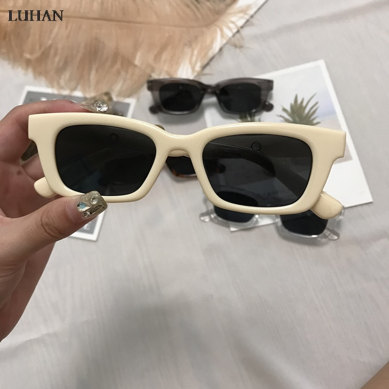 1PC New Women Rectangle Vintage Sunglasses Brand Designer Retro Points Glasses Female Lady Eyeglass