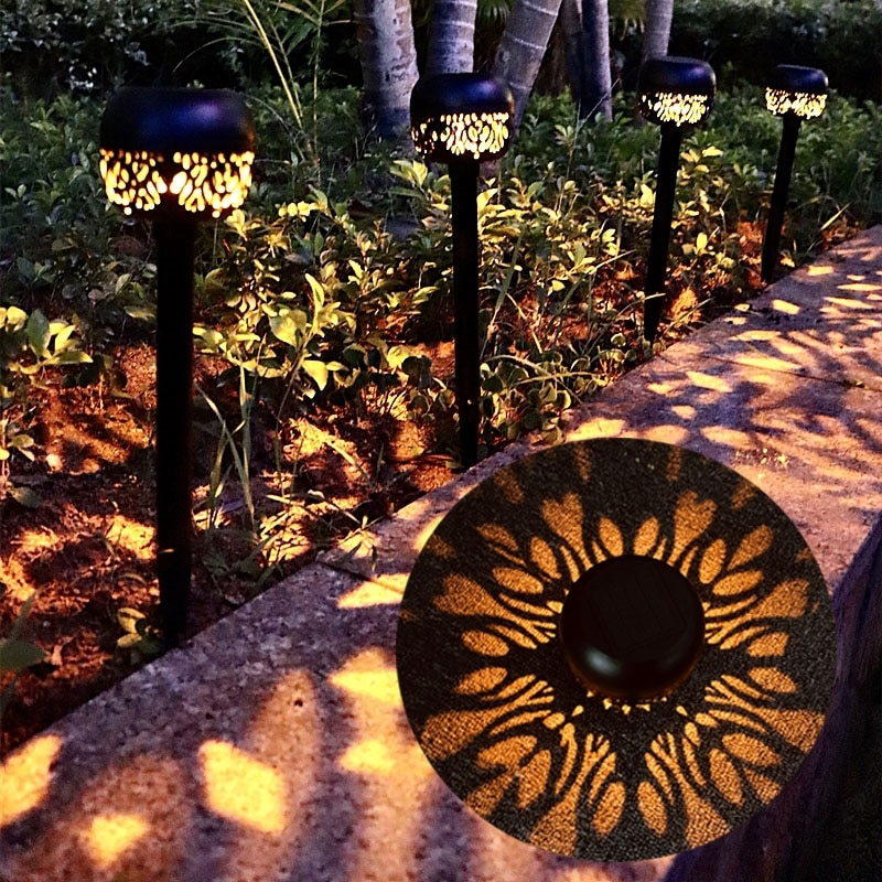 Outdoor Solar LED Light Garden Decoration Lawn Lamp Waterproof for Courtyard Villa Pavilion Landscape